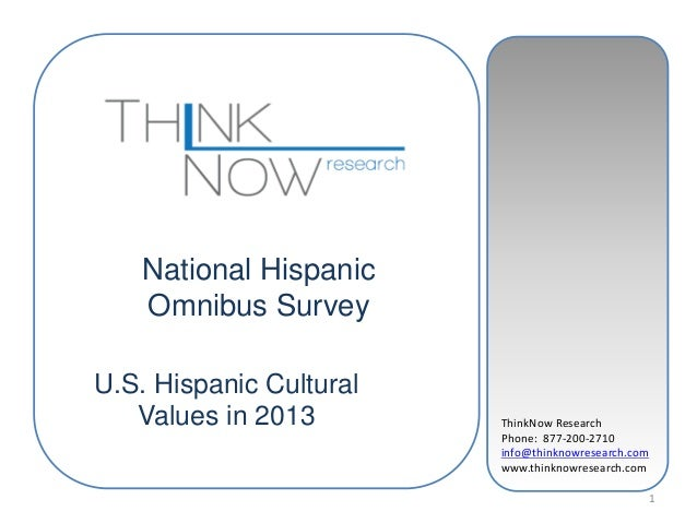 ThinkNow ResearchPhone: 877-200-2710info@thinknowresearch.comwww.thinknowresearch.com1National HispanicOmnibus SurveyU.S. ...