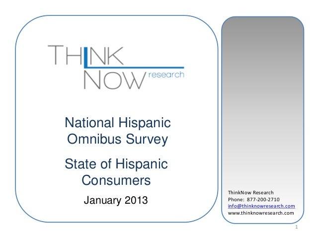 ThinkNow ResearchPhone: 877-200-2710info@thinknowresearch.comwww.thinknowresearch.com1National HispanicOmnibus SurveyState...