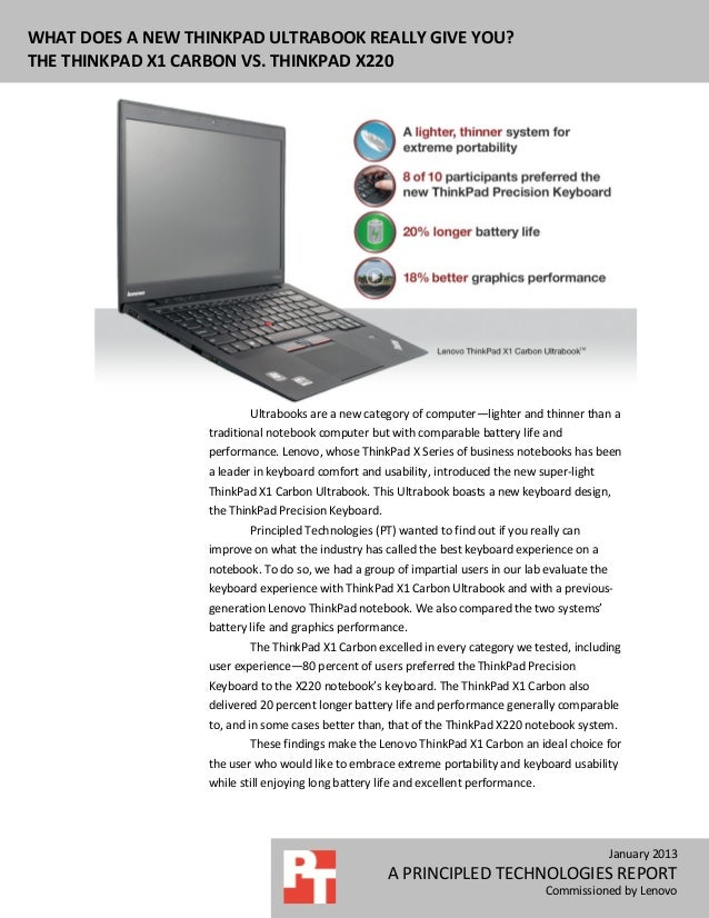 What does a new ThinkPad Ultrabook really give you?  The ThinkPad X1 Carbon vs. ThinkPad X220