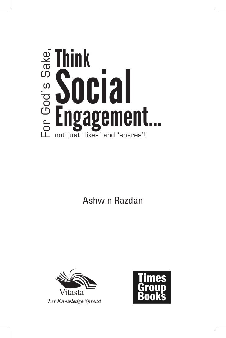 ThinkFor God's Sake,                  Social                  Engagement…                  not just 'likes' and 'shares'! ...