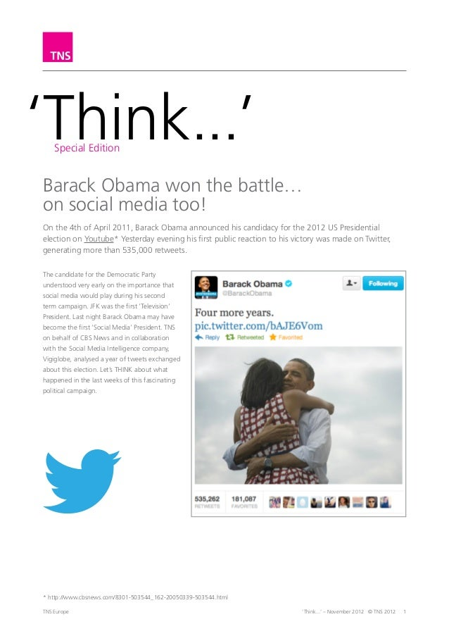 Think special edition - Barack Obama won the battle on social media too!