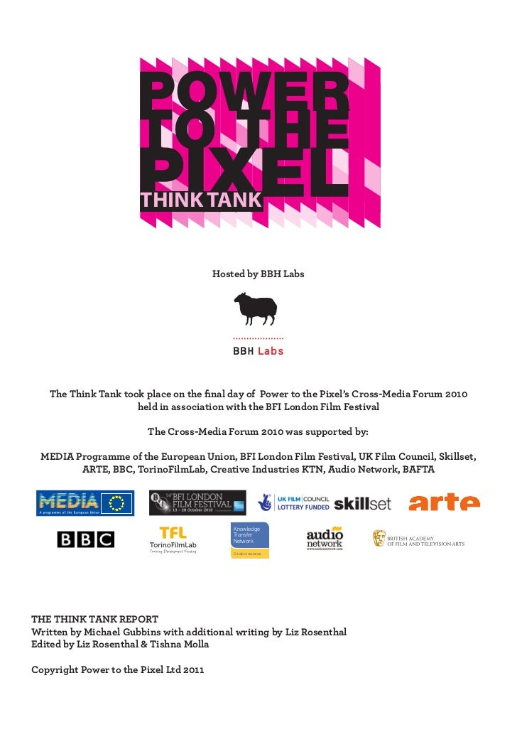 THINK TANK                                        Hosted by BBH Labs                                           BBH Labs   ...