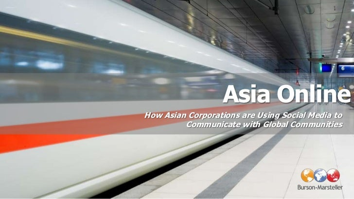 How Asian Corporations are Using Social Media to Communicate with Global Communities