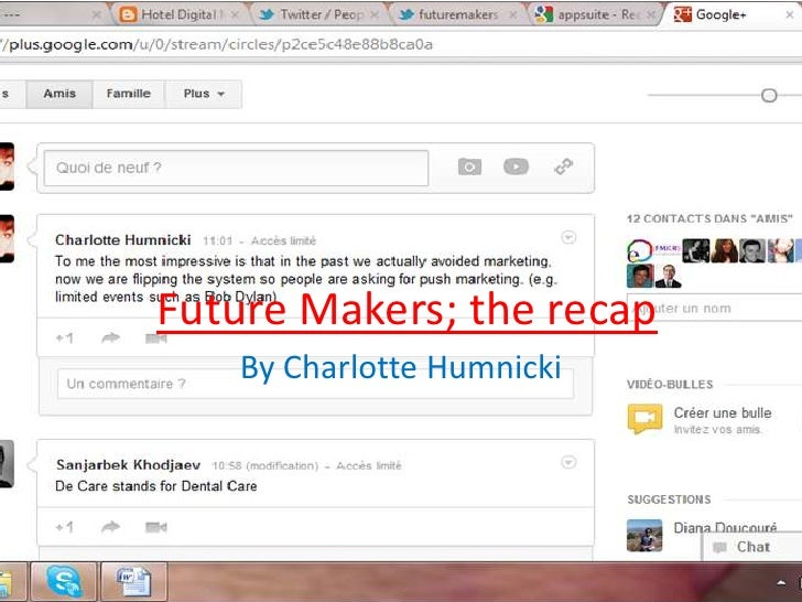 Future Makers; the recap   By Charlotte Humnicki