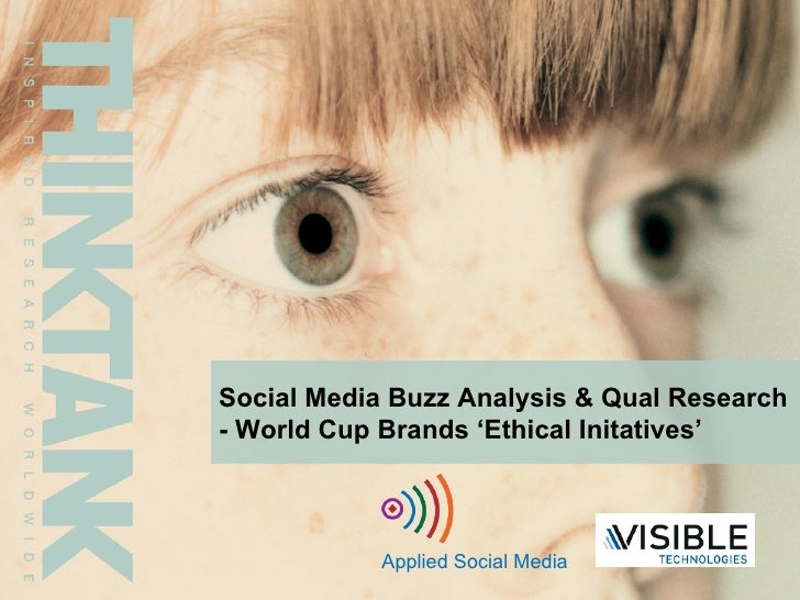 Social Media Buzz Analysis & Qual Research - World Cup Brands 'Ethical Initatives' Applied Social Media