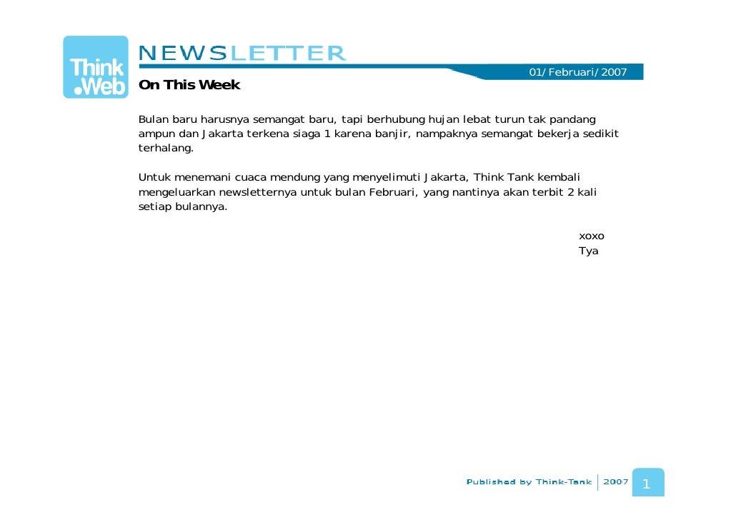 Think.Web Newsletter - February 2007 - #1