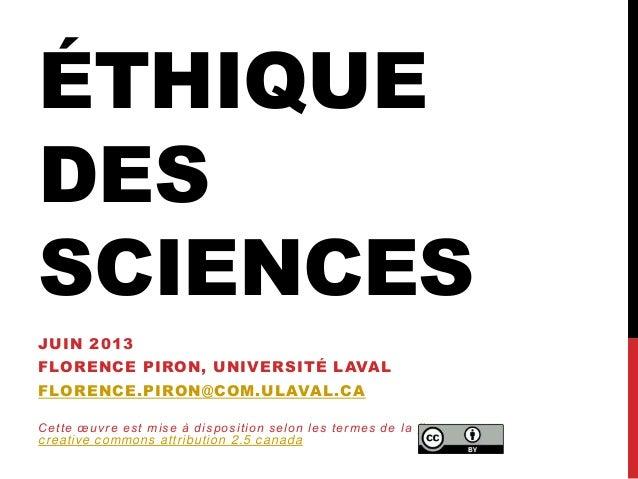 Éthique des sciences