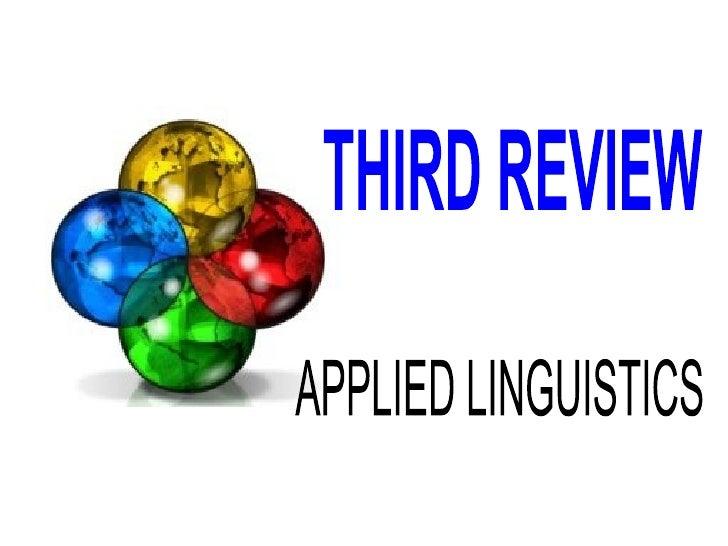 Third Class Applied Linguistics