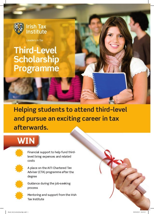 Third-Level         Scholarship         Programme         Helping students to attend third–level         and pursue an exc...
