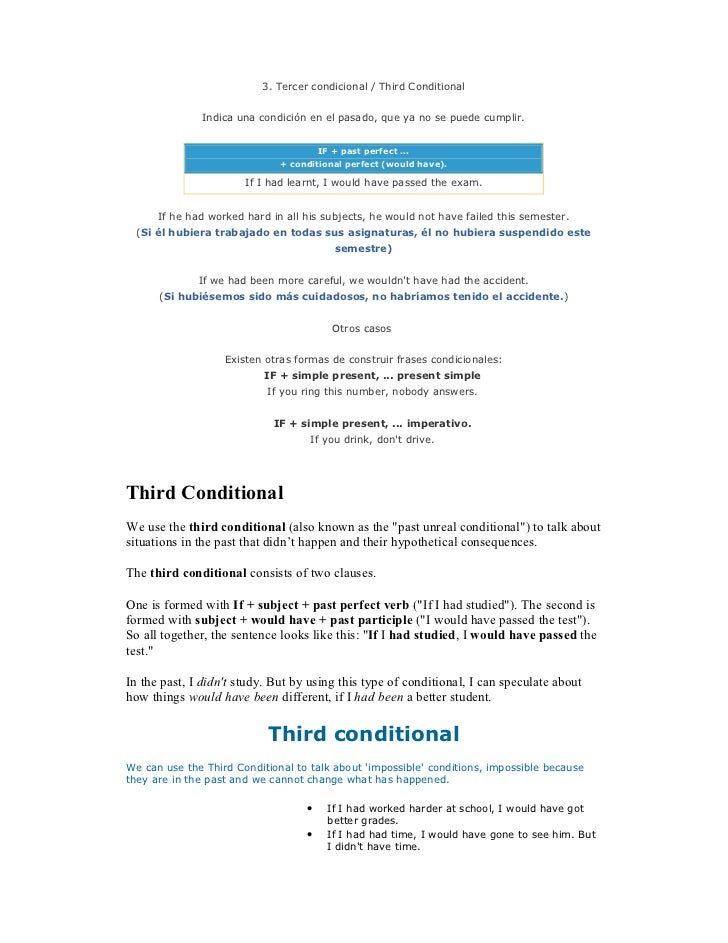 Third conditional word