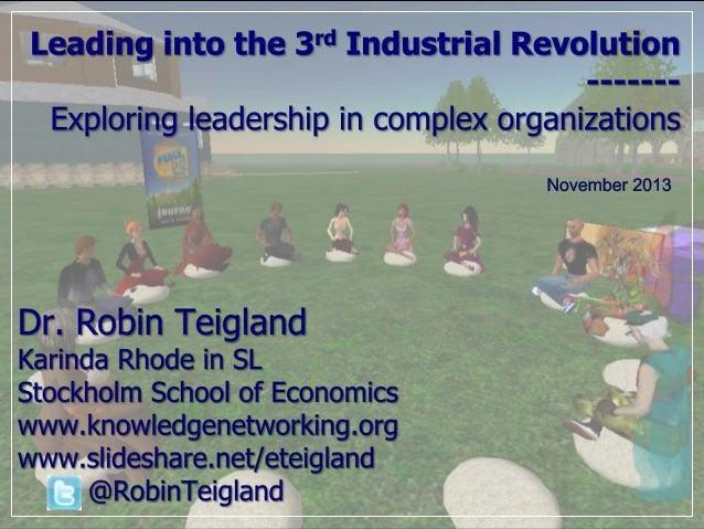 Exploring Leadership in Third Industrial Revolution Teigland