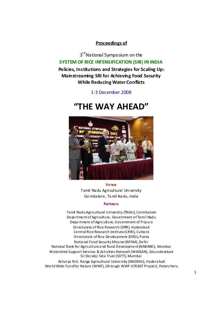 Third National Symposium on SRI