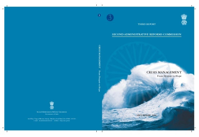 Second ARC(Third Report)-Crisis Management(Government of India)