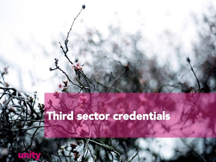 Third sector credentialsunity