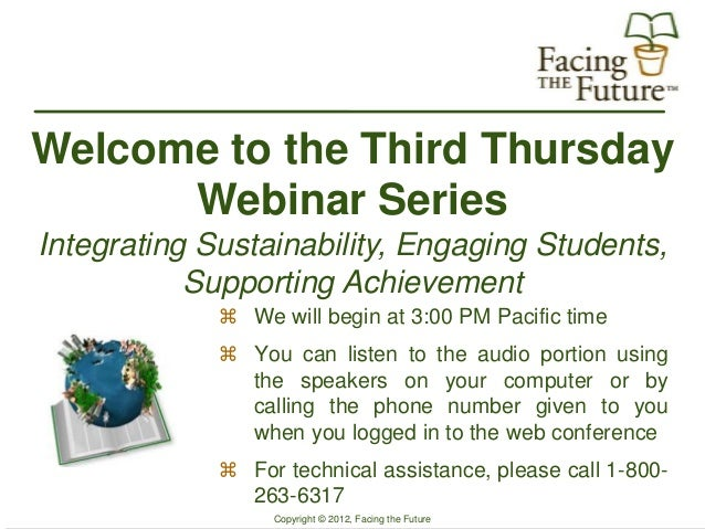 Facing the Future Third Thursday Webinar Series Nov 2012