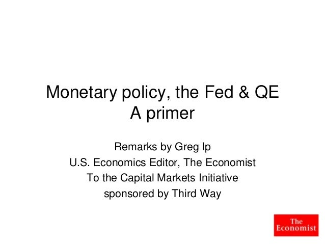 A primer on central banking and quantitative easing