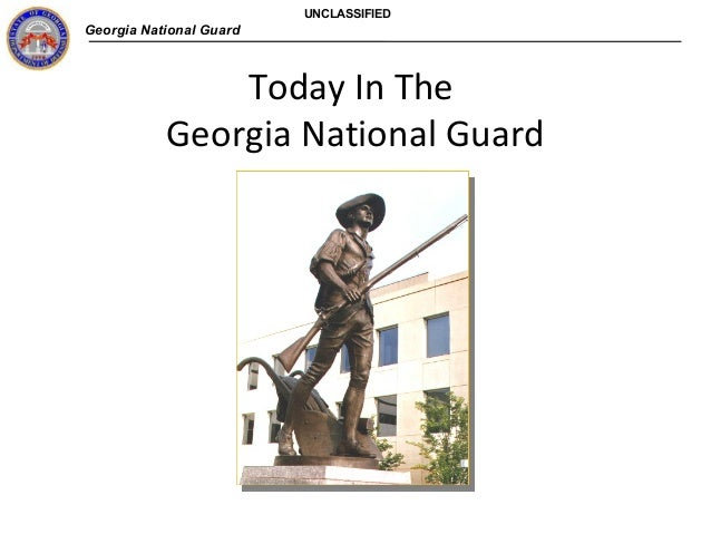 Georgia National Guard UNCLASSIFIED Today In The Georgia National Guard