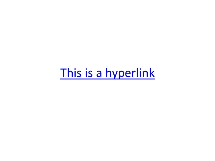 This is a hyperlink<br />
