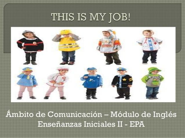 Ámbito de Comunicación – Módulo de Inglés Enseñanzas Iniciales II - EPA