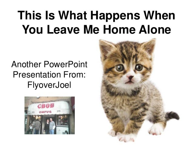 This Is What Happens When  You Leave Me Home AloneAnother PowerPointPresentation From:   FlyoverJoel