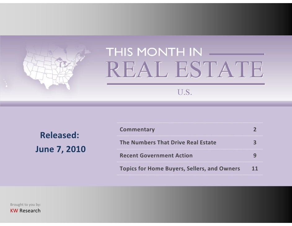 This Month In Real Estate June 2010