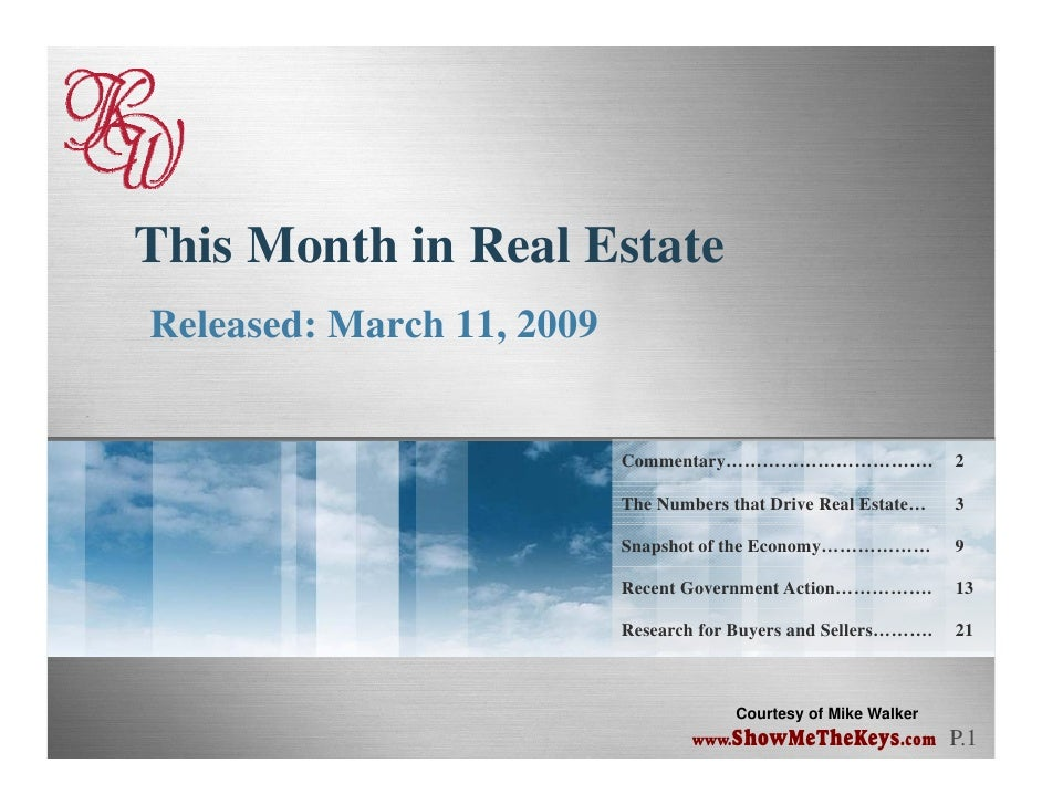 This Month In Real Estate March 2009