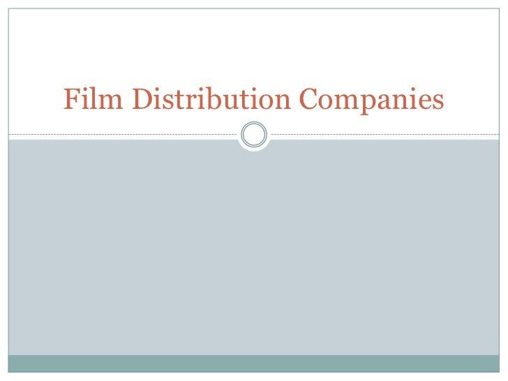 Film Distribution Companies