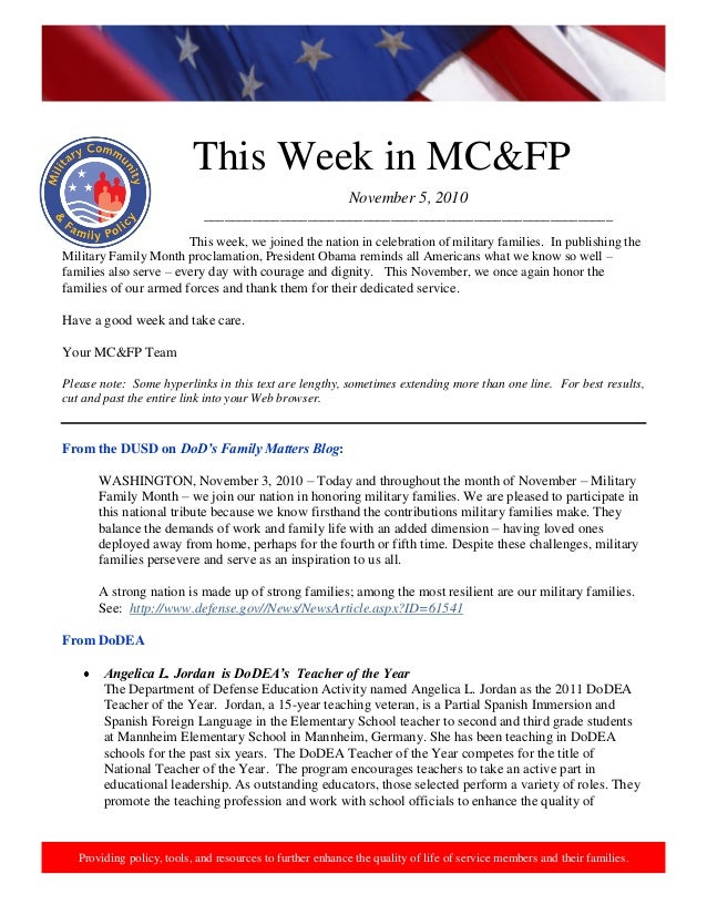 This week in mcfp 05 nov 2010