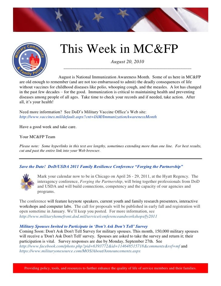 This week in mcfp 20 aug 2010