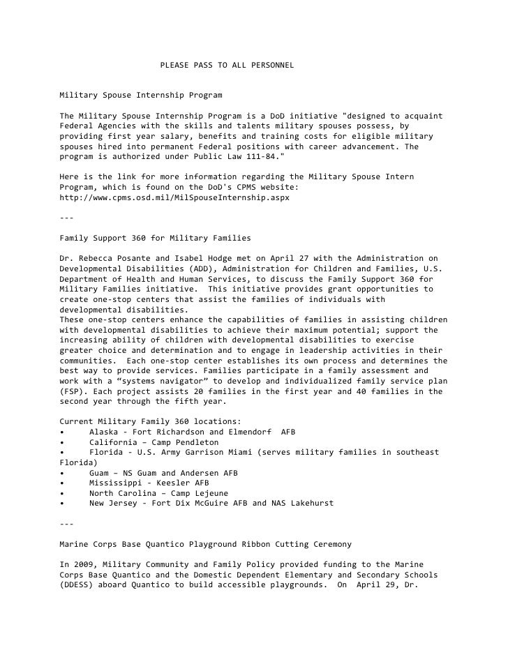 PLEASEPASSTOALLPERSONNEL   MilitarySpouseInternshipProgram  TheMilitarySpouseInternsh...