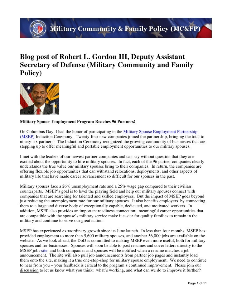 Image description. MC&FP banner image End of image description.Blog post of Robert L. Gordon III, Deputy AssistantSecretar...