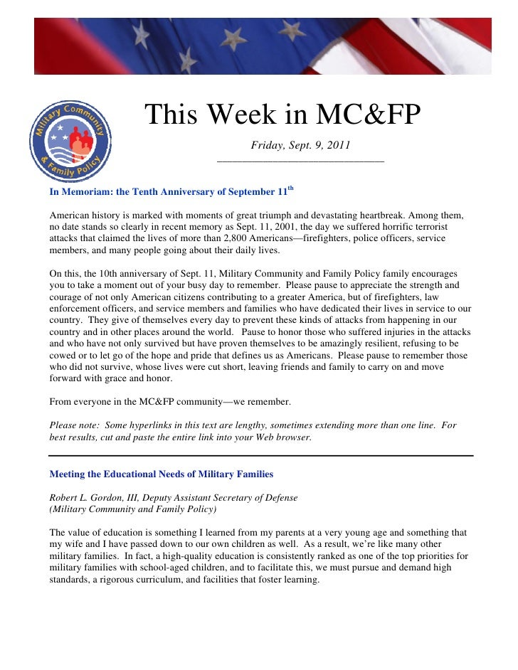 This week in mcfp sept  9 2011