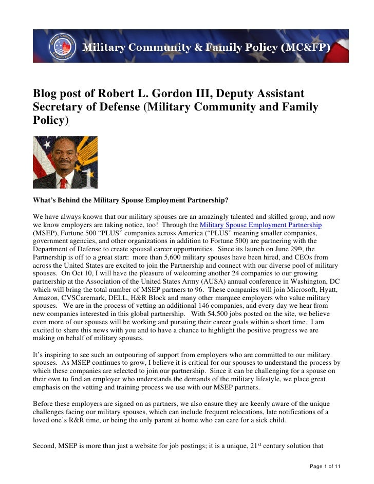 This week in military community & family policy october 11, 2011