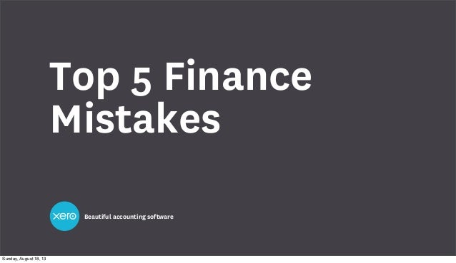 This Week in Startups - Top 5 financial mistakes