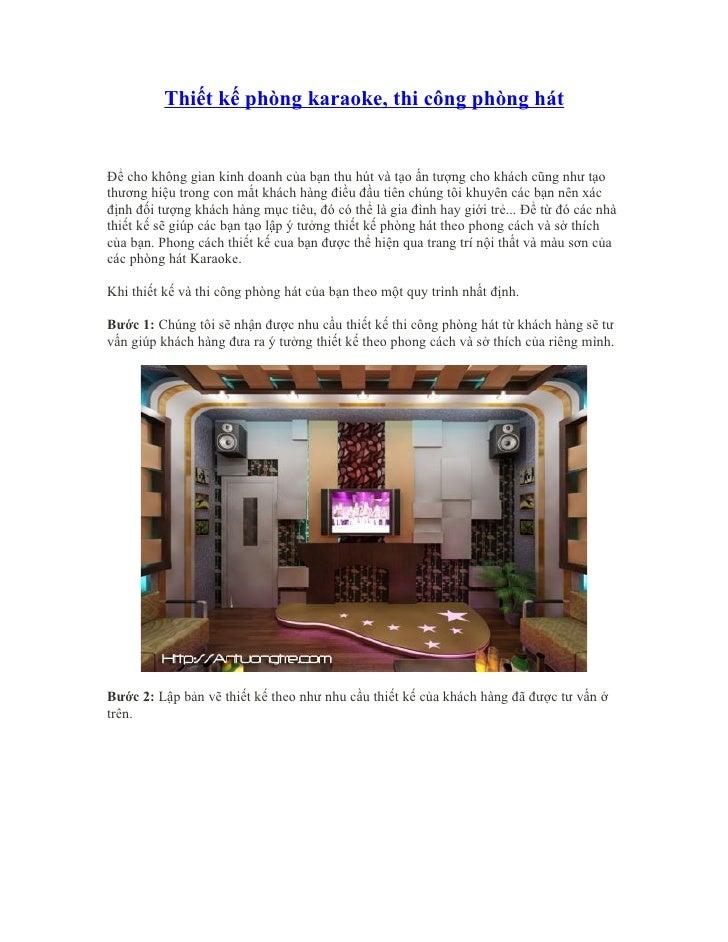 Thiết kế phòng karaoke, thiet ke phong karaoke,  thiet ke phong karaoke dep