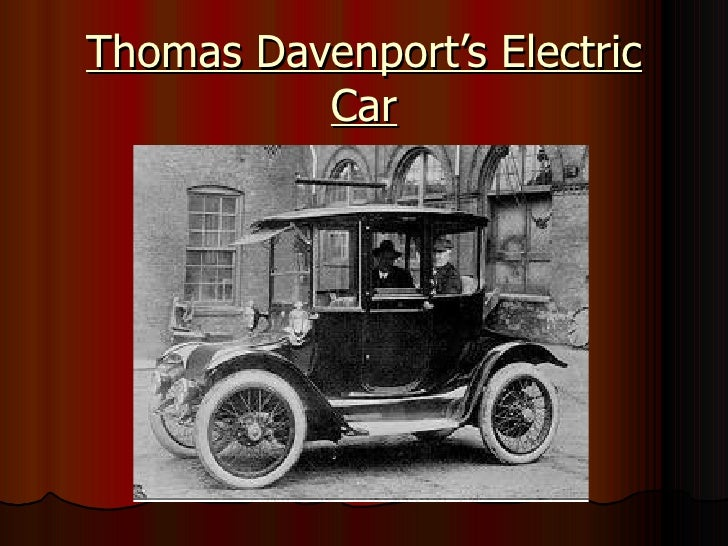 Thomas Davenport'S Electric Car