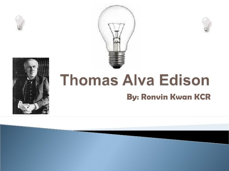 Thomas Edison from ronvinkwan