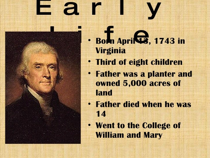 the life and achievements of thomas jefferson Thomas jefferson was the 3rd president of the united states kids learn about his  biography and life story.