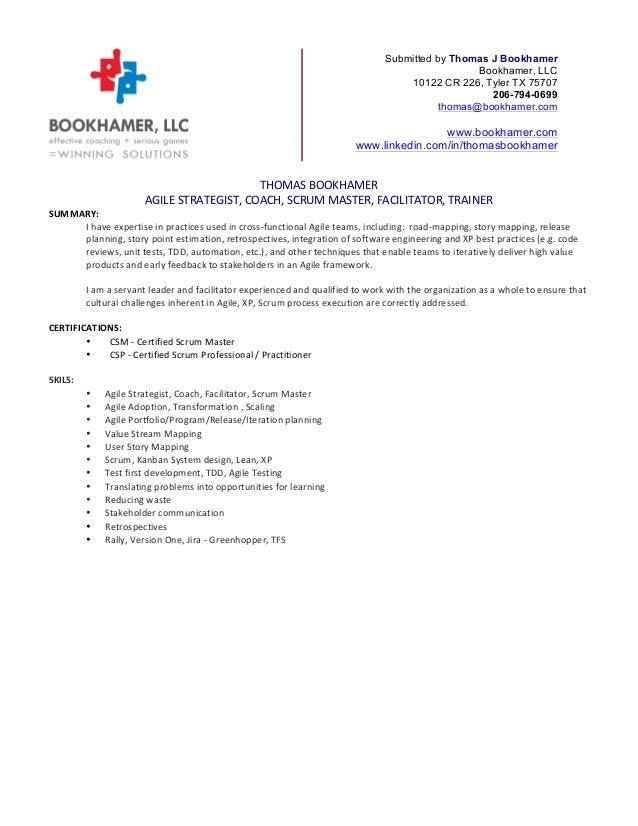 Master resume example