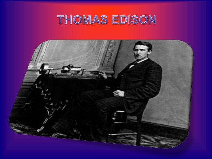 THOMAS EDISON<br />