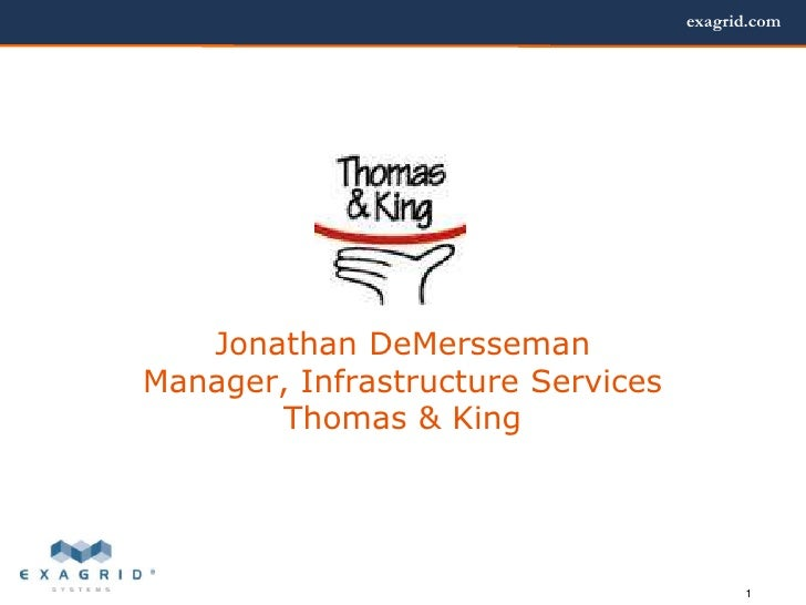 Thomas & King Finds Data BackUp Relief.ppt