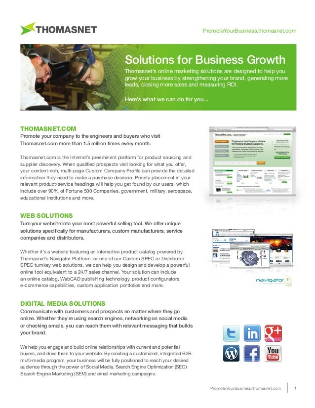 ThomasNet Solutions for Business Growth