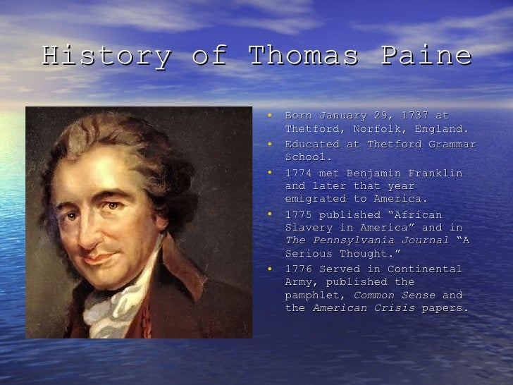 thomas paine essay 11102018 please inform everyone you know about this page and the important ideas of thomas paine it offers through his essays and correspondence keys to a.