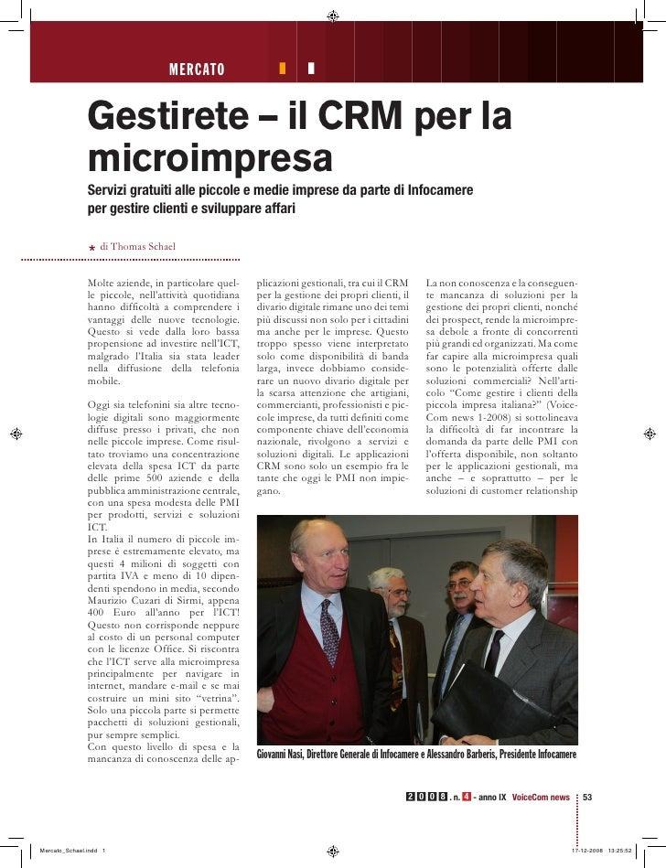 Thomas Schael: Gestirete - Il Crm per la Microimpresa - VoiceComNews 4-2008