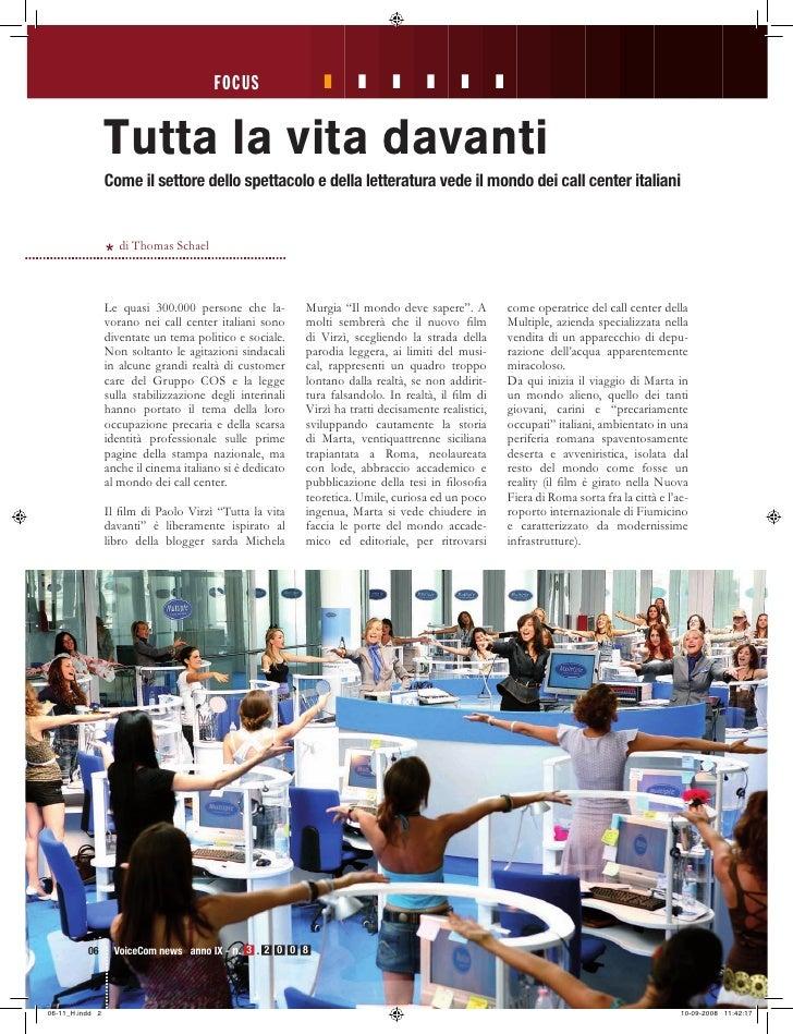 Thomas Schael: Tutta la Vita Davanti - VoiceComNews 3-2008
