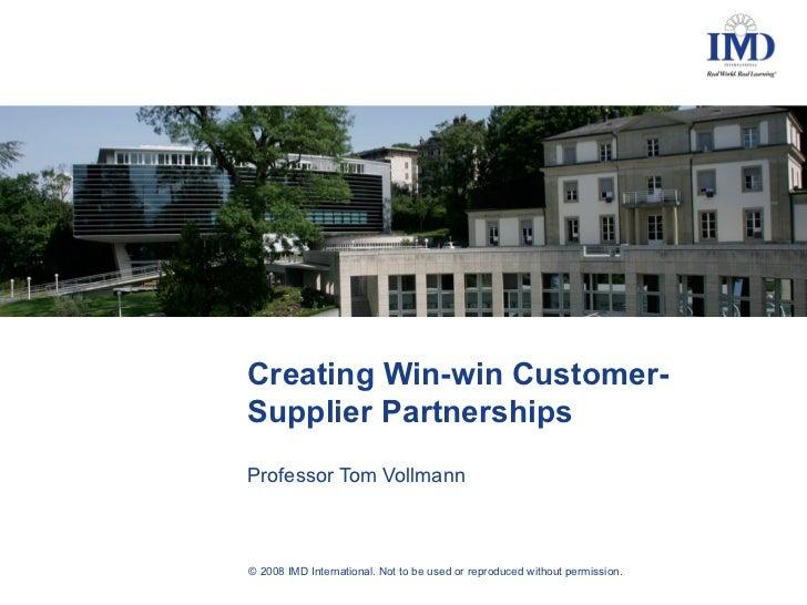 Tulevaisuuden ostaja rakentaa kumppanuutta ja vaatii kilpailukykyä 18.9.2008 / Vollmann