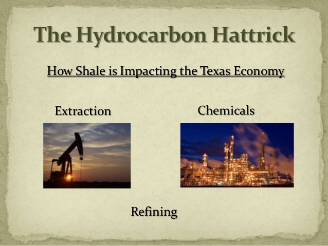 How Shale is Impacting the Texas Economy Extraction              Chemicals              Refining