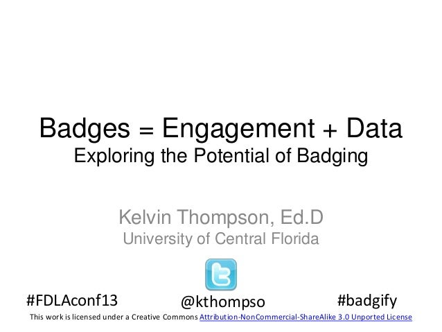 Exploring the potential of badging: Badges = engagement + data