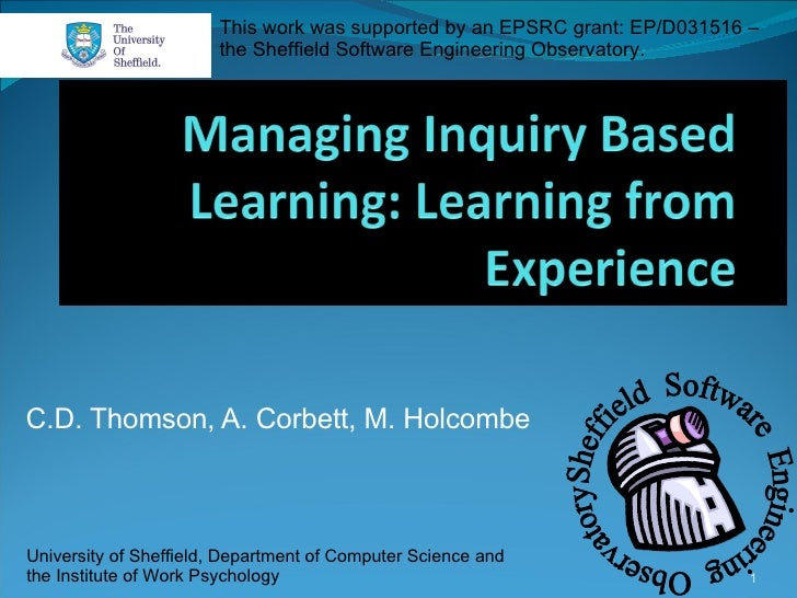 Managing Inquiry-based Learning: Learning from experience