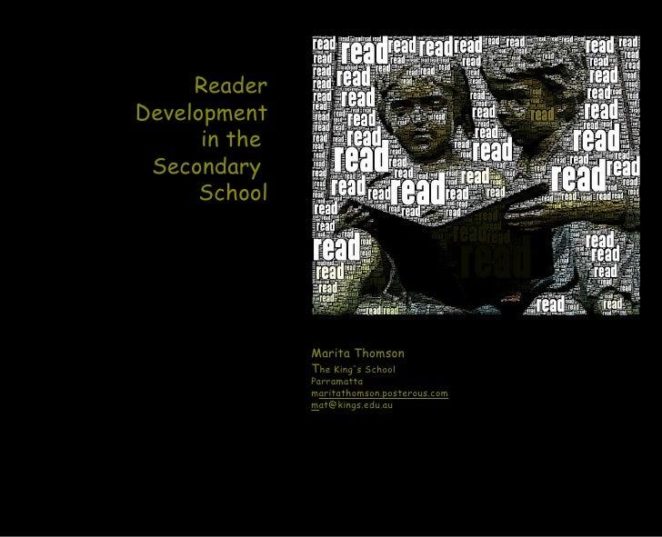 Thomson - Reader development in secondary school